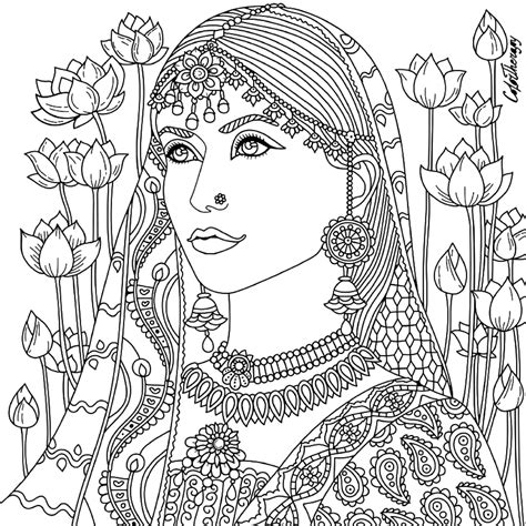 coloring book for adults india indian coloring page zentangles colouring