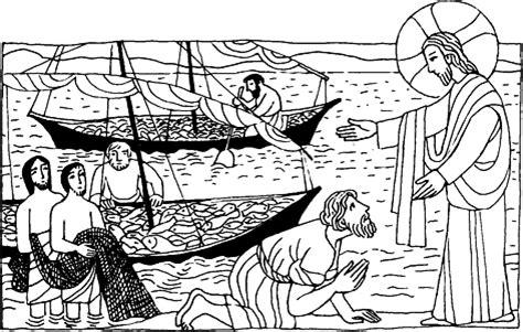 dibujos para colorear de la pesca milagrosa imagenes para colorear de la pesca milagrosa imagui