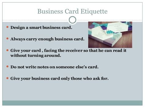 business card design presentation template business card etiquette ppt images card design and card