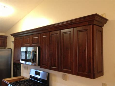 Angled Corner Kitchen Cabinets Crown Return To Angled Corner Cabinet Finish Carpentry Contractor Talk