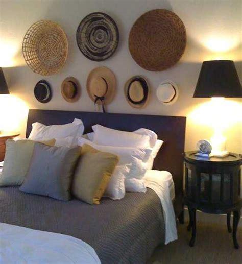 modern wall decoration  ethnic wicker plates bowls
