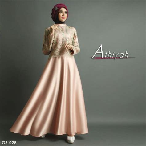 Baju Gamis Pesta Satin Variasi Brokat baju pesta premium athiyah a207 satin mix brokat by shiraaz