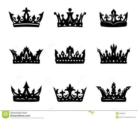 Setelan Annbebie I White Crown coronas reales 225 ldicas negras ilustraci 243 n vector