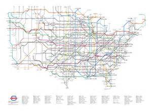 u s highway routes as a subway map colossal