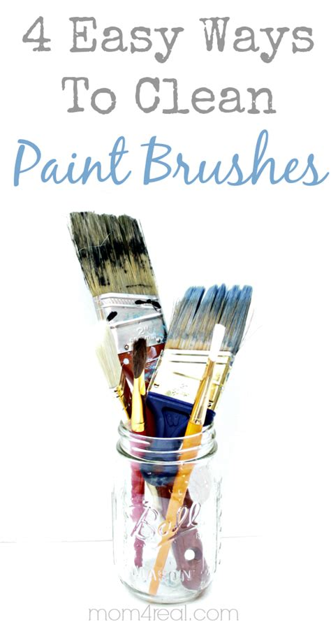 easy ways  clean paint brushes vintage household tip