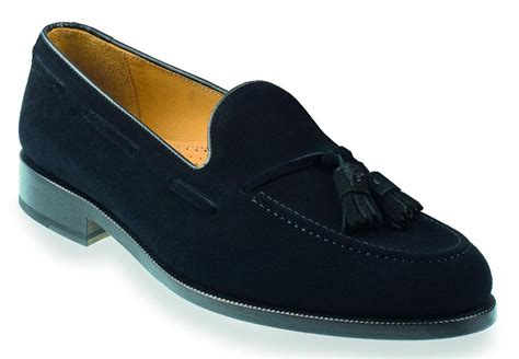 tassle loafer beale mens black suede tassel loafer