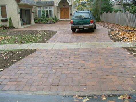 Install Patio Pavers Installing New Pavers For Driveway Home Ideas Collection