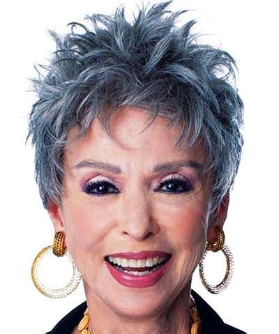 spikey styles for grey hair short hairstyles for older women with gray hair