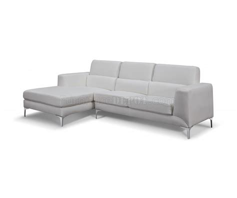 white faux leather sectional sydney sectional sofa in white faux leather by whiteline