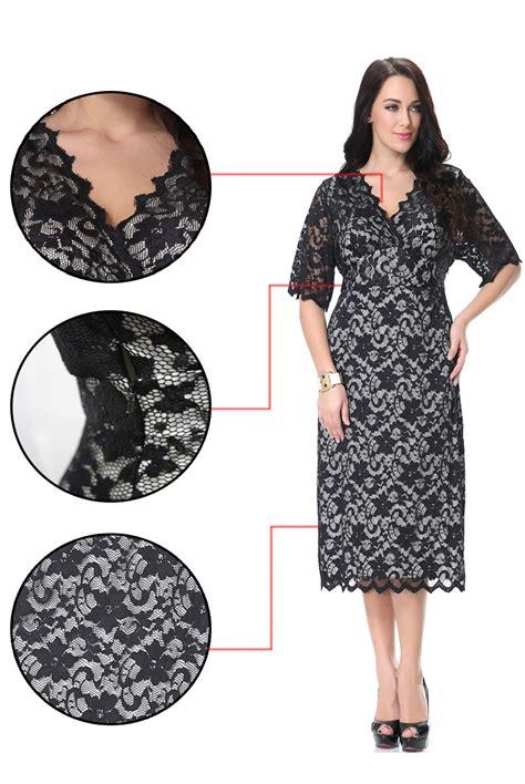Voerin Dress Lace Size S unomatch plus size bodycon knee length lace decorated dress black unomatch shop