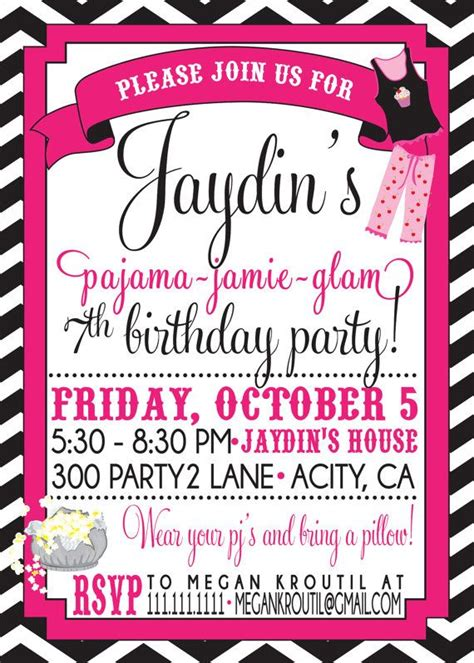 pajama party invitations theruntime com