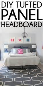 remodelaholic diy tufted panel headboard
