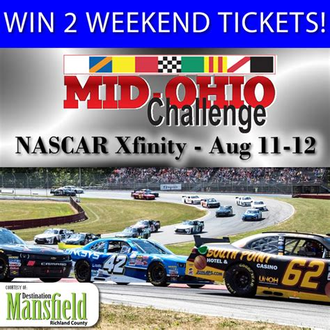 Nascar Xfinity Sweepstakes - blog destination mansfield richland county
