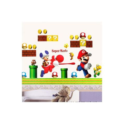 mario wall stickers mario stickers for walls home boys room mario wall stickers decals bros build for