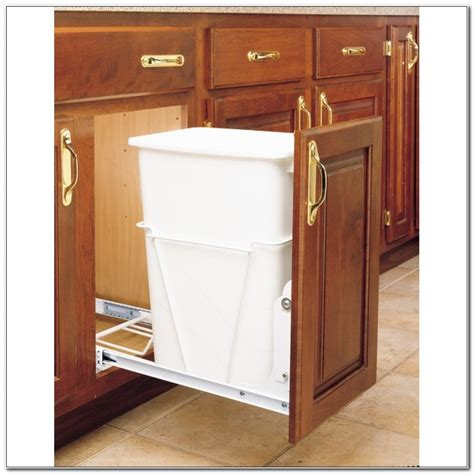 cabinet trash pull out pull out trash and recycling cabinet cabinet home
