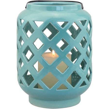 homes  gardens teal ceramic lantern ceramic