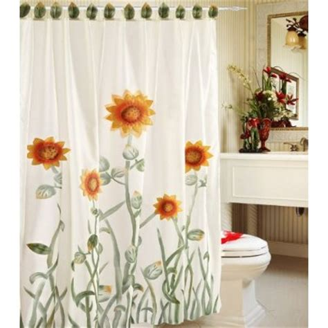 sunflower shower curtains sunflower shower curtain