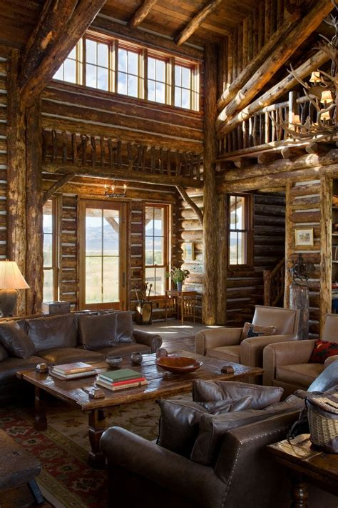 log home interior    ranch architecture ranch