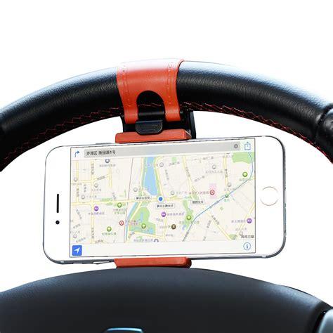 Steering Wheel Phone Socket Holder universal car steering wheel phone socket holder navigate
