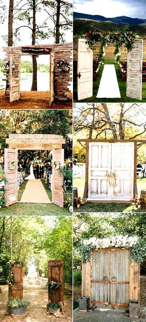 rustic  door wedding ceremony entrance ideas