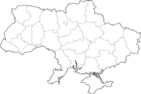 outline map of ukraine with regions coloring page free