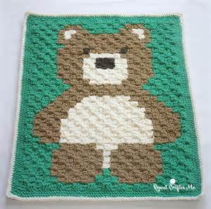 crochet c2c bernat blanket repeat crafter me