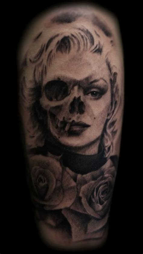 marilyn monroe skull tattoo designs 17 marilyn skull tattoos