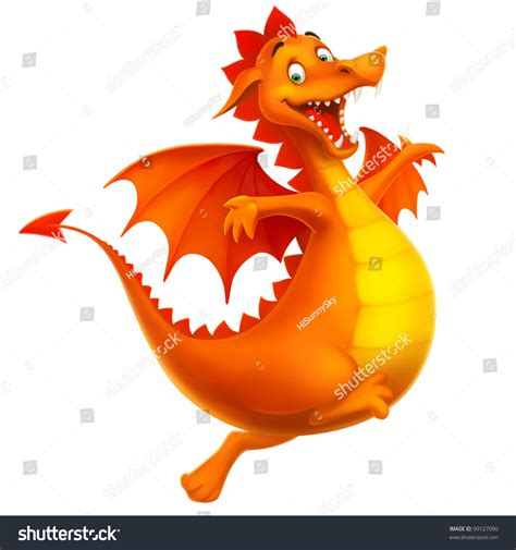 dragon cute smiling happy cartoon toy stock vector