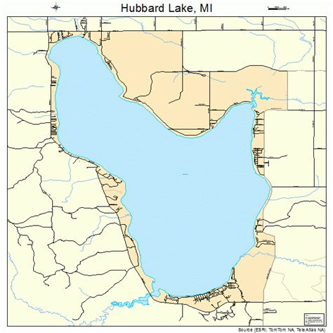 lake michigan map hubbard lake michigan map 2639634