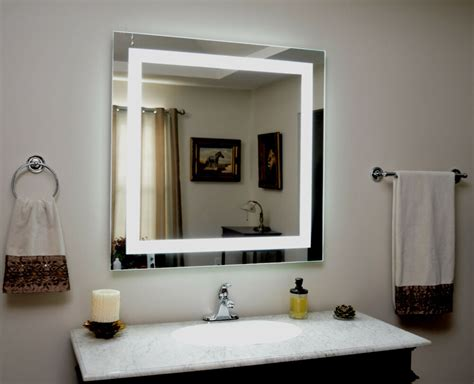 lighted vanity mirror led lighted wall mounted mam  tall   wide ebay
