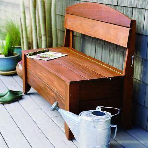 woodwork outdoor storage bench diy pdf plans