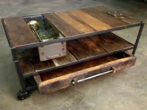 Industrial Rustic Coffee Table Custom Made Industrial Coffee Table With Rustic Wood And Metal Coffee Tables Guide