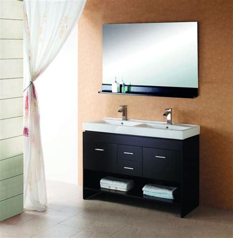 double sink vanities for small bathrooms virtu usa 48 quot gloria espresso double sink bathroom