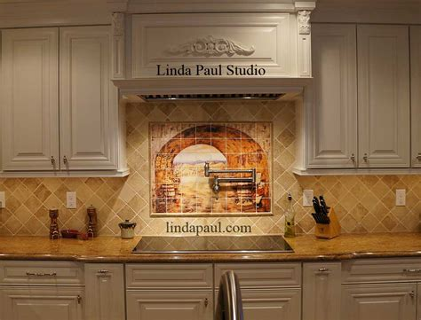 backsplash kitchen tiles tuscan backsplash tile wall murals tiles backsplashes