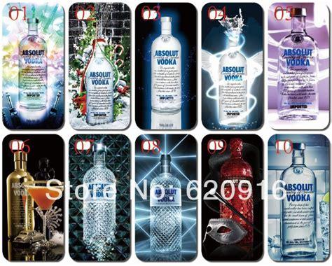 10pcs 130rb 4 6th 10pcs lot new unique design absolut vodka white back cover for iphone 5 5th 5s free
