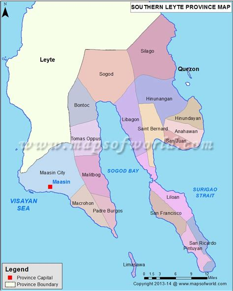 Galerry southern leyte map