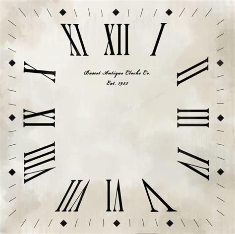 printable square clock face animation production clock calendar