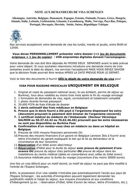 Lettre De Motivation Visa Belgique Doc Lettre D Invitation Pour Visa Belgique