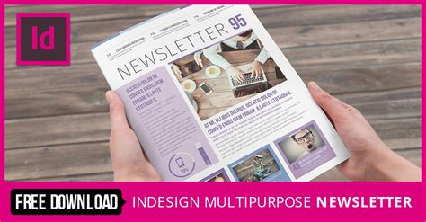 free indesign newsletter templates stockindesign multipurpose newsletter template