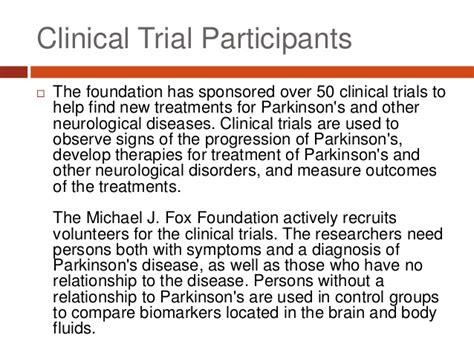 michael j fox clinical trials michael j fox foundation seeking clinical trial participants