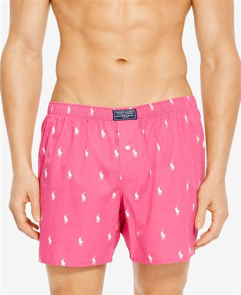 boxers for polo ralph s classic printed boxers in pink for