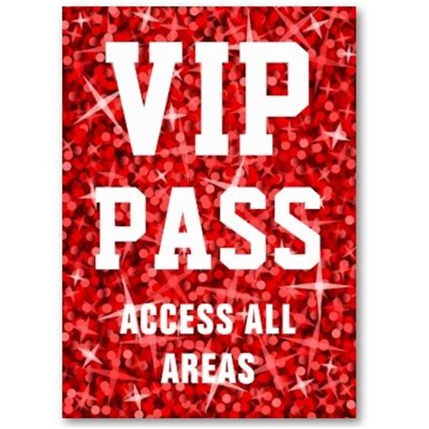 printable vip tickets 17 best images about vip pass on pinterest birthday