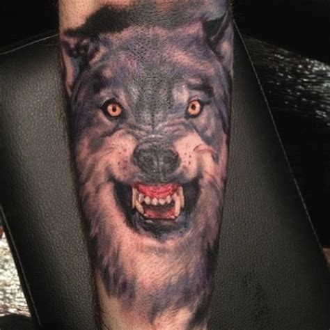 lone wolf chest tattoo