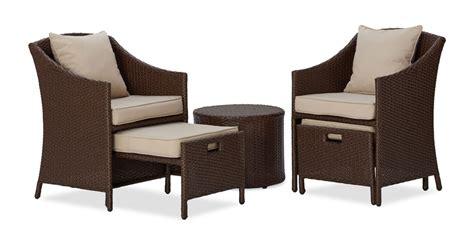 Amazon Com Strathwood All Weather Wicker 5 Piece Strathwood Patio Furniture