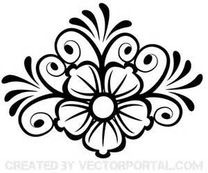 flower ornament art download free vector art free vectors
