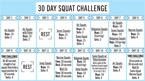30 day squat challenge for get a better with this 30 day squat challenge