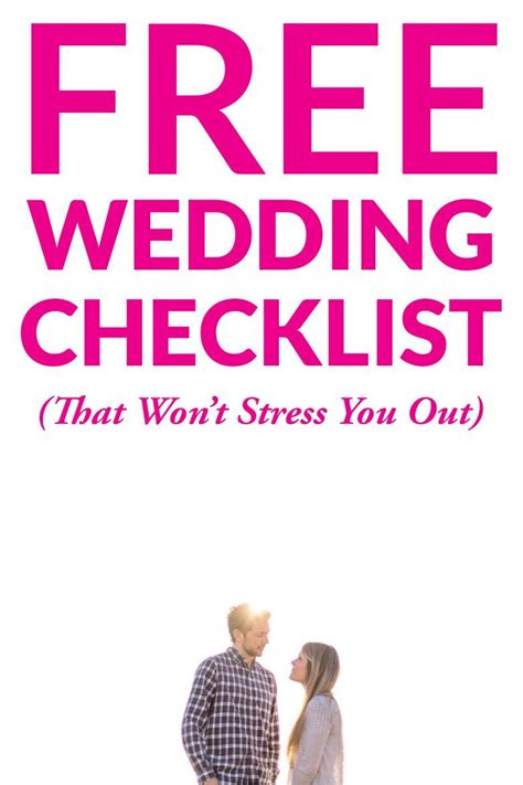 Wedding Logistics Checklist by Wedding Checklist Complete Lower Stress A Practical