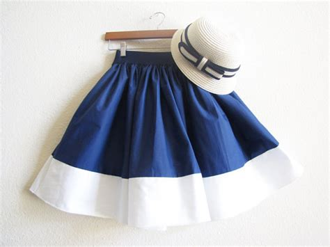 nautical navy blue and summer cotton white sailor mori