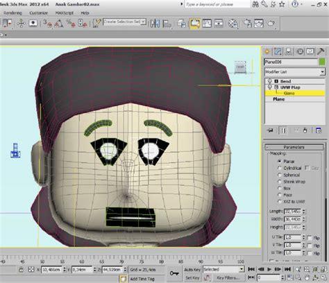 Has016 Tangan Karakter 3d Dengan Kuping Mulut tutorial animasi menggunakan texture