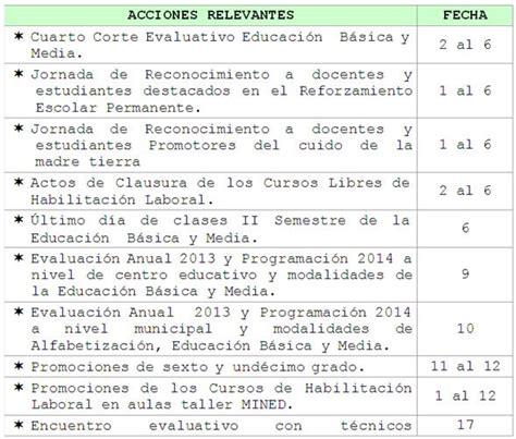 calendario del mes de diciembre 2012 y enero 2013 calendario escolar mined nicaragua p 225 gina 4